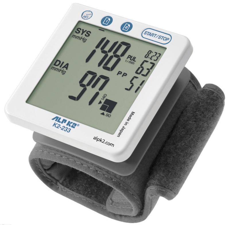 Máy đo huyết áp cổ tay cao cấp tự động hoàn toàn K2-233
